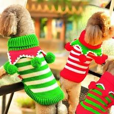 Winter Cat Dog Clothes Sweater Puppy Dog Christmas Jumper Knitwear Sweater