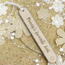 Personalised Bookmarks Mothers Day Gifts Wooden Gifts | Engraved Bookmark | Mum