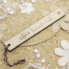 Childrens Personalised Bookmarks Wooden Gifts | Engraved Bookmark Birthday Gifts