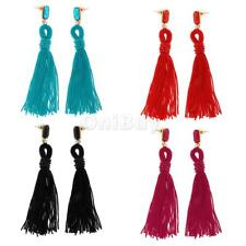 Ethnic Women Party Bohemian Tassel Earrings Vintage Long Fringe Dangle Earrings
