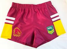 BRISBANE BRONCOS NRL 2017 CLASSIC SPORTSWEAR KIDS YOUTH SUPPORTER SHORTS