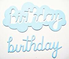 8 Birthday Cloud Die Cuts. Memory Box. Any Colour/Card!