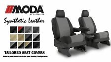 Coverking Synthetic MODA Leather Front & Rear Seat Covers for Toyota Sienna