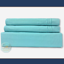 4 Piece Bed Sheet Set 1800 Series Deep Pocket KING Size - Aqua Teal Color