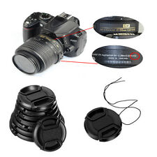 49/52/55/58mm Snap On Front Lens Cap Cover Center Pinch for Canon Nikon Camera
