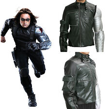 Winter Soldier Bucky Jacket Captain Cosplay America 3 Costume Halloween Xcoser