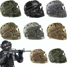 Detachable Airsoft Tactical Fast Helmet w/Protective Mask Googles & G4 System