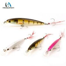 Maxcatch 9.5cm 11.5g Minnow Bass Fishing Lures Crank Bait with Feather