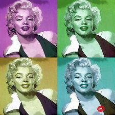 """Marilyn Monroe"" Kiss limited edition canvas print"