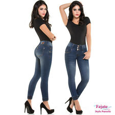 Colombian Straight Jeans High Waist Push Up Levanta Cola Butt Lifter Denim Pants