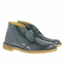 CLARKS ORIGINALS WOMENS X DESERT BOOTS PETROL PATENT LEATHER UK 6, 6.5
