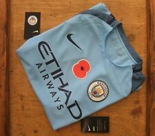 Brand New Official Manchester City 2016/17 Home POPPY Shirt Adults Small