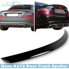 Mercedes Benz SLK-Class R172 AM-Look Trunk Spoiler Painted #197 Obsidian Black