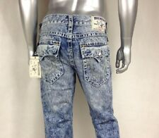 NWT $271 Auth TRUE RELIGION STRAIGHT W/Flaps NATURAL BIG T Men`s Jeans Sz 28-44