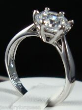 Stunning 1.5ctw CZ Cubic Zirconia Classic Solitaire Engagement wedding ring