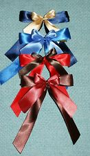 3 SATIN BOWS-WEDDING,BIRTHDAY,CHRISTMAS TREE,WREATH,GIFT,PRESENT-HANDMADE