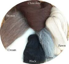 Alpaca Wool Combed Top Natural Color Roving Spin or Felt by Ashland Bay