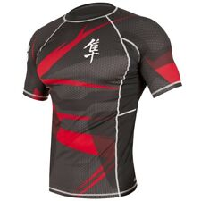 Hayabusa Metaru 47 Short Sleeve Rashguard (Black/Red) - bjj ufc mma