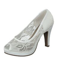 Jane Klain 293 173 Ladies Peep Toe High Heel Shoes Wedding Shoes white