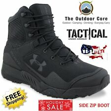 Under Armour Boots SIDE ZIP BLACK Valsetz RTS  / ALL SIZES / Tactical Men's NEW!