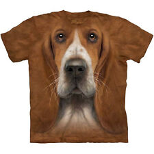 BASSET HOUND HEAD T-Shirt The Mountain Big Face Dog Mens Sizes S-3XL NEW
