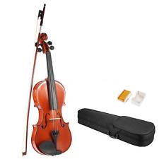 Hot ammoon Full Size 1/4 1/2 3/4 4/4 Solid Wood Violin+Bow Rosin Case Gift D9Q3