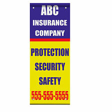 Insurance Company Advertisement Custom Phone Double Sided Pole Banner Sign