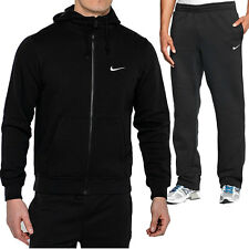 Mens New Nike Club Swoosh Fleece Full Tracksuit Hoodie Joggers Bottoms Top S-XL