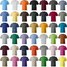 Hanes Beefy 100% Cotton Tag-free neck label T-Shirt 43 Colors S-6XL Tee 5180