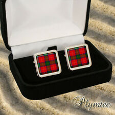 CHISHOLM SCOTTISH CLAN TARTAN MEN'S CUFFLINKS GIFT ENGRAVING