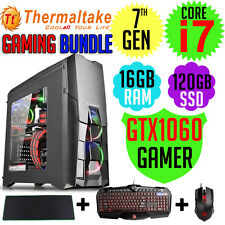 Thermaltake Gaming Bundle Core i7-7700 GTX1060 KB&M RGB Desktop Computer PC NEW