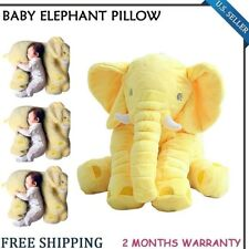 Elephant Pillow Cushion Baby Pillow Doll Toy Kids Soft Plush Lumbar Nose YELLOW