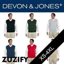 Devon & Jones Classic Mens V-Neck Sweater Vest. D477