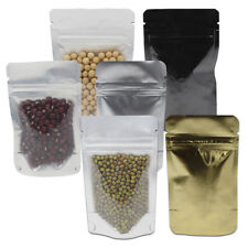 Front Clear Pure Aluminum Stand Up Bags Package Zip Lock Mylar Foil Food Pouches