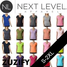 Next Level Apparel Ladies Junior Fit The Sporty V T-Shirt. 3400L