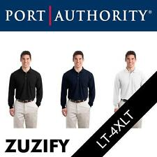 "Port Authority Tall ""Silk Touch"" Long Sleeve Polo Shirt with Pocket. TLK500LSP"