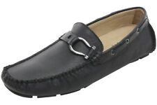 Bacco Bucci Studio Men's Palm Beach Black Slip-On Driver Loafers Shoes