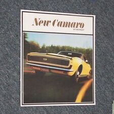 NEW CAMARO by Chevrolet BROCHURE 1967 - Reproduction