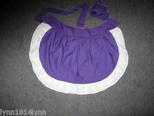 Personalised 1/2 Aprons Made to order Avaiable most colors with various trim