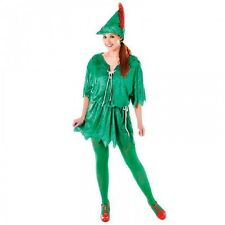 Women's Peter Pan Fancy Dress Up Costume Ladies Adults World Book Day Outfit
