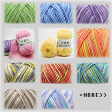 Wholesale!Chic 23 Colors Super Soft Smooth Cotton Yarn hand dyed Knitting Yarn