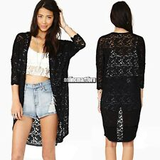 2014 Women Lace Sheer Sleeve Floral Loose long Tee Top Blouse Cardigan hollow