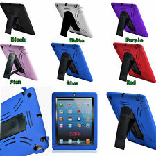 Rubber Shock Proof Heavy Duty Kickstand Hard Case Cover for iPad Mini New