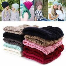 Boys Kids Knitted Wool Hat Knit Crochet Cap Winter Warmer Children's Beanie