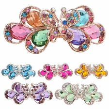 Knot Headwear Flower Hair Clip Crystal Rhinestone Hairpins Butterfly Sharped