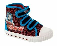 BOYS THOMAS THE TANK ENGINE HI TOP TRAINERS BOOTS SHOES UK SIZE 5-10