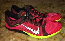 New Mens 12 NIKE Zoom Victory XC 3 RED Black Volt Cross Country Spikes Shoes
