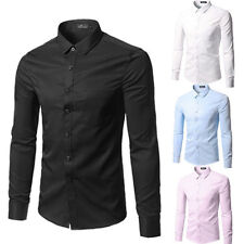 Mens Fashion Luxury Casual Stylish Slim Fit Long Sleeve Casual Dress Shirts aa09