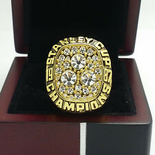 1985 Edmonton Oilers Stanley Cup Hockey Championship Solid Alloy Ring 11Size