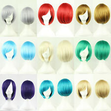 Women Short Wigs Straight Cosplay Full Manic Panic Wig Synthetic Short Bobo Wig